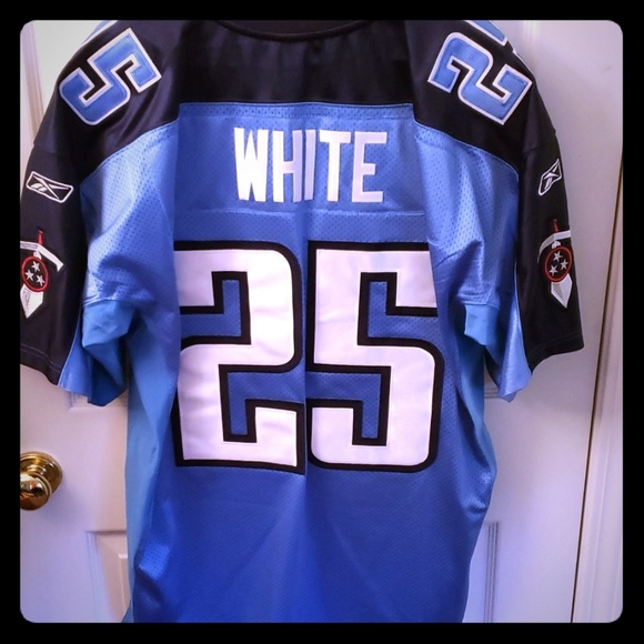 6aba918d Lendale White Tennesee Titans Authentic Jersey S50